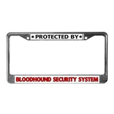 Bloodhound Security License Plate Frame