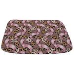 Leopards and Lace - Pink Bathmat
