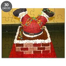 santa stuck in a chimney Puzzle