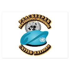 UN - UN Beret - Peacekeeper Invitations