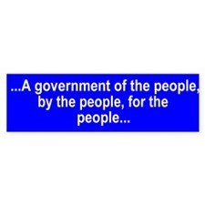 A government by the people...