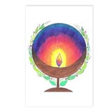 Rainbow Flame Postcards (Package of 8)