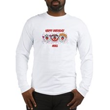 Happy Birthday MIKE (clowns) Long Sleeve T-Shirt