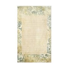 Blue Floral Vintage Lined Page Decal