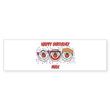 Happy Birthday MAX (clowns) Bumper Bumper Sticker