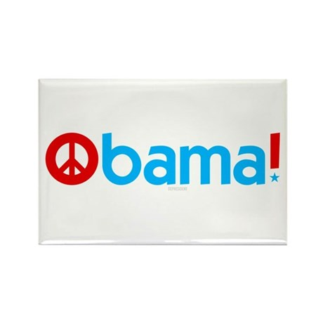 Obama for Peace Rectangle Magnet (100 pack)
