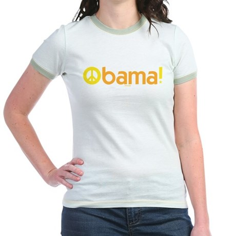 Obama for Peace Jr Ringer T-Shirt