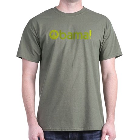 Obama for Peace Military Green Tee