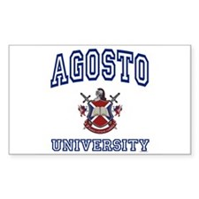 AGOSTO University Rectangle Decal