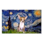 Starry Night Chihuahua Sticker (Rectangle)