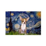 Starry Night Chihuahua Rectangle Magnet (10 pack)