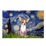 Starry Night Chihuahua Postcards (Package of 8)