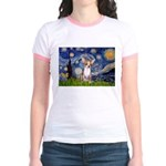 Starry Night Chihuahua Jr. Ringer T-Shirt
