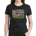 Lilies (2) & Chihuahua Women's Dark T-Shirt