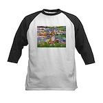 Lilies (2) & Chihuahua Kids Baseball Jersey
