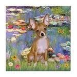 Lilies (2) & Chihuahua Tile Coaster