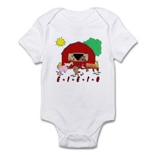 Old MacDonald Farm Nursery Rhymes Baby Bodysuit