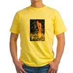 Fairies & Chihuahua Yellow T-Shirt