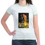Fairies & Chihuahua Jr. Ringer T-Shirt