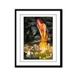 Fairies & Chihuahua Framed Panel Print