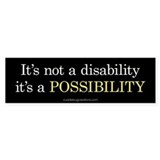 Disability Possibility - Bumper Car Sticker