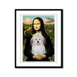 Mona's Coton de Tulear Framed Panel Print