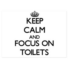 Keep Calm by focusing on Toilets Invitations