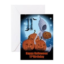 11th Birthday Halloween Card Greeting Cards