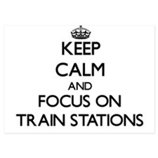 Keep Calm by focusing on Train Station Invitations