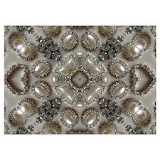girly vintage pearl diamond glamorous Invitations