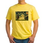 Starry / Coton de Tulear (#7) Yellow T-Shirt