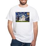 Starry / Coton de Tulear (#7) White T-Shirt