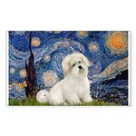 Starry / Coton de Tulear (#7) Sticker (Rectangle)