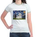 Starry / Coton de Tulear (#7) Jr. Ringer T-Shirt
