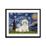 Starry / Coton de Tulear (#7) Framed Panel Print