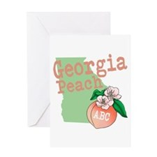 Georgia Peach Greeting Cards