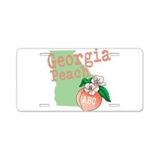Georgia Peach Aluminum License Plate