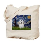 Starry Night Coton de Tulear Tote Bag