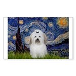 Starry Night Coton de Tulear Sticker (Rectangle)