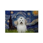 Starry Night Coton de Tulear Rectangle Magnet