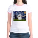 Starry Night Coton de Tulear Jr. Ringer T-Shirt