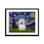 Starry Night Coton de Tulear Framed Panel Print