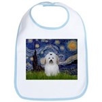 Starry Night Coton de Tulear Bib