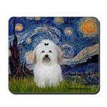Starry Night Coton de Tulear Mousepad