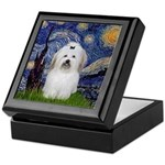 Starry Night Coton de Tulear Keepsake Box