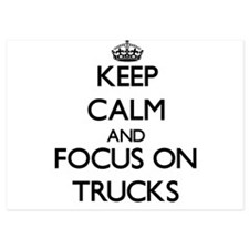 Keep Calm by focusing on Trucks Invitations