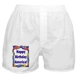 America's Birhtday Party Boxer Shorts