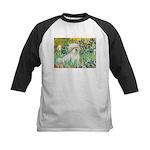 Irises / Coton Kids Baseball Jersey