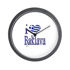 I Love Baklava Wall Clock