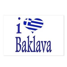 I Love Baklava Postcards (Package of 8)